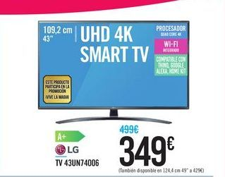 Oferta de LG TV 43UN74006 por 349€