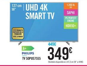 Oferta de Philips TV 50PUS7555 por 349€