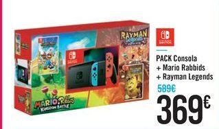 Oferta de PACK Consola + Mario Rabbids + Rayman Legends por 369€