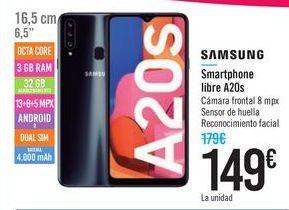 Oferta de Samsung Smartphone libre A20s por 149€