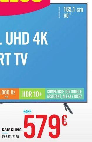 Oferta de TV 65TU7125 SAMSUNG por 579€