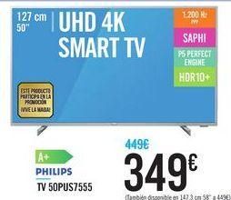 Oferta de TV 50PUS7555 PHILIPS por 349€