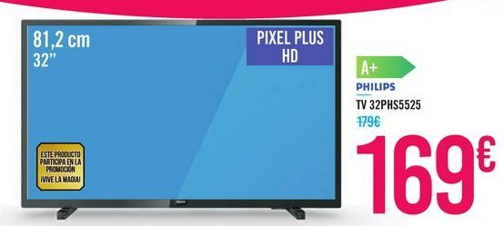 Oferta de TV 32PHS5525 PHILIPS por 169€