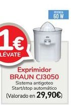 Oferta de Exprimidor BRAUN CJ3050  por 29,9€