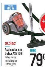 Oferta de Aspirador sin bolsa AS3102 Solac  por 79€