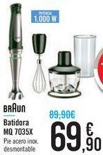 Oferta de Batidora MQ 7035X Braun  por 69,9€