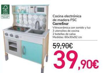 Oferta de Cocina electrónica de madera FSC Carrefour  por 39,9€