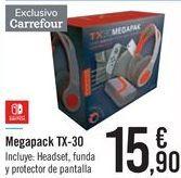 Oferta de Megapack TX-30 NINTENDO SWITCH por 15,9€