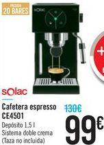 Oferta de Cafetera espresso CE4501 Solac  por 99€