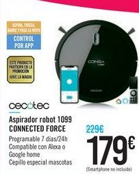 Oferta de Aspirador robot 1099 CONNECTED FORCE CECOTEC  por 179€