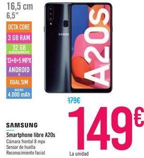 Oferta de Smartphone libre A20s SAMSUNG por 149€
