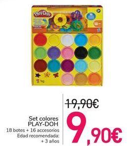 Oferta de Set colores PLAY-DOH por 9,9€