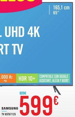 Oferta de TV 65TU7125 SAMSUNG por 599€