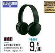 Oferta de Auricular Single TnB por 9,9€
