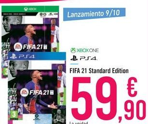 Oferta de FIFA 21 Standard Edition XBOX ONE PS4 por 59,9€