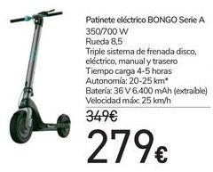 Oferta de Patinete eléctrico BONGO Seria A  por 279€
