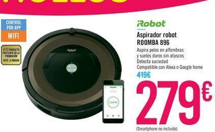 Oferta de Aspirador robot ROOMBA 896 iRobot  por 279€