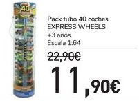Oferta de Pack tubo 40 coches EXPRESS WHEELS por 11,9€