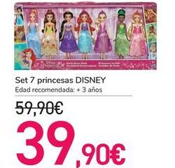 Oferta de Set 7 princesas DISNEY  por 39,9€
