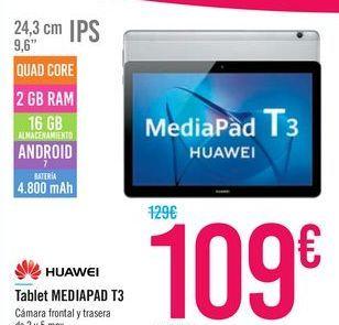 Oferta de Tablet MEDIAPAD T3 HUAWEI por 109€