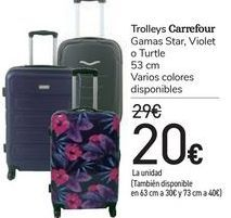 Oferta de Trolleys Carrefour Gamas Star, Violet o Turtle  por 20€