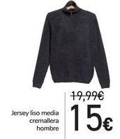 Oferta de Jersey liso media cremallera hombre  por 15€