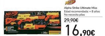 Oferta de Alpha Strike Ultimate Miss Nerf  por 16,9€