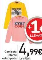 Oferta de Camiseta infantil estampada  por 4,99€