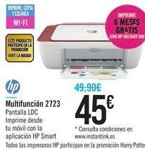 Oferta de Multifunción 2723 HP por 45€