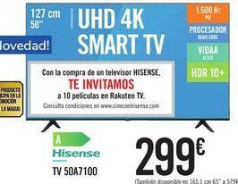 Oferta de TV 50A7100 Hisense por 299€