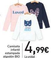 Oferta de Camiseta infantil estampada algodón BIO  por 4,99€