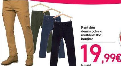 Oferta de Pantalón denim color o multibolsillos hombre  por 19,99€