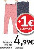 Oferta de Legging infantil estampado  por 4,99€
