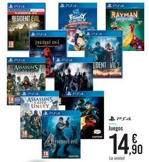 Oferta de Juegos PS4 por 14,9€
