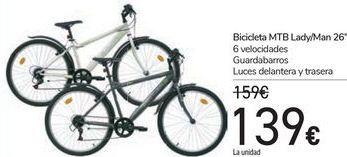 Oferta de Bicicleta MTB Lady/Man 26'' por 139€