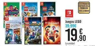 Oferta de Juegos LEGO NINTENDO SWITCH por 19,9€