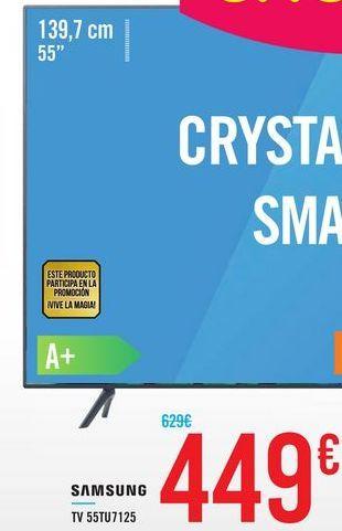 Oferta de TV 55TU7125 SAMSUNG por 449€