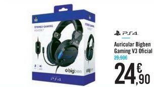 Oferta de Auricular Bigben Gaming V3 Oficial PS4 por 24,9€