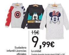 Oferta de Sudadera infantil Licencias oficiales  por 9,99€