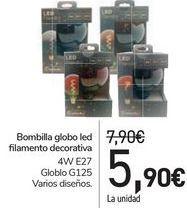 Oferta de Bombilla globo led filamento decorativa  por 5,9€