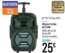 Oferta de Altavoz troley ALT/34B INNOVA por 25€