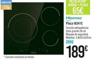 Oferta de Placa I6341C Hisense  por 189€