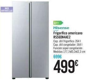 Oferta de Frigorífico americano RS560N4AC2 Hisense por 499€