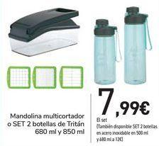 Oferta de Mandolina multicortador 0 SET 2 Botellas de Tritán por 7,99€
