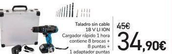 Oferta de Taladro sin cable 18V LI ION por 34,9€