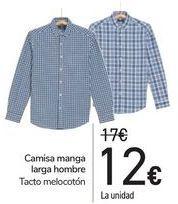 Oferta de Camisa manga larga hombre  por 12€