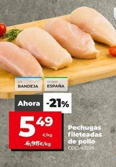 Oferta de Pechuga de pollo por 5,49€