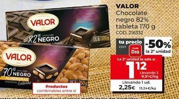 Oferta de Chocolate negro Valor por 2,25€