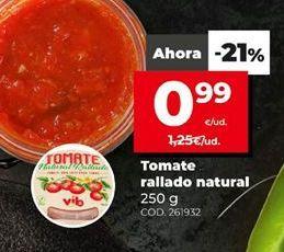 Oferta de Tomate rallado natural 250g.  por 0,99€