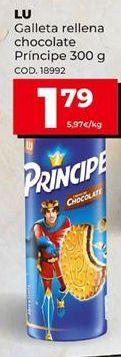 Oferta de Galleta rellena chocolate Príncipe 300g. LU. por 1,79€
